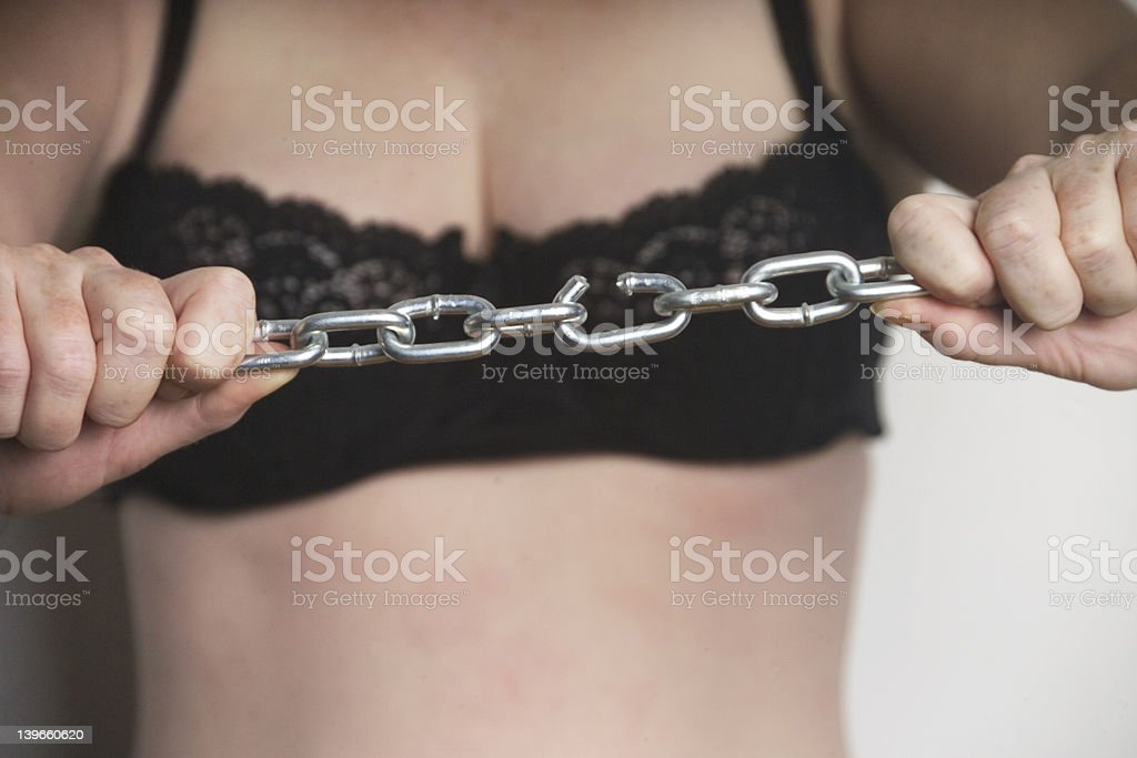 woman breaking free royalty-free stock photo