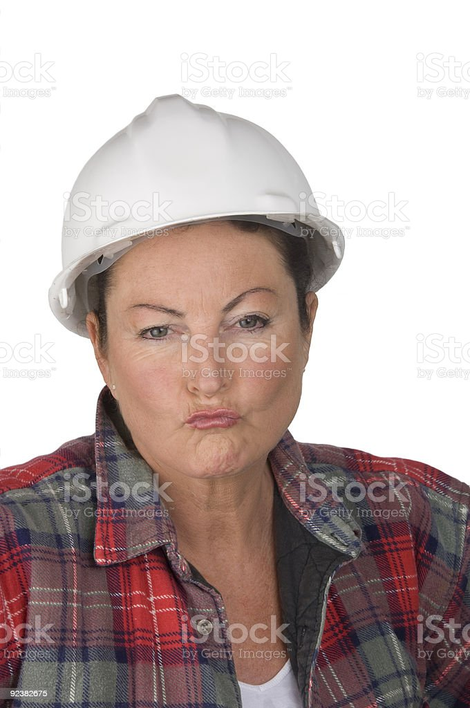 Woman Builder royalty-free stock photo