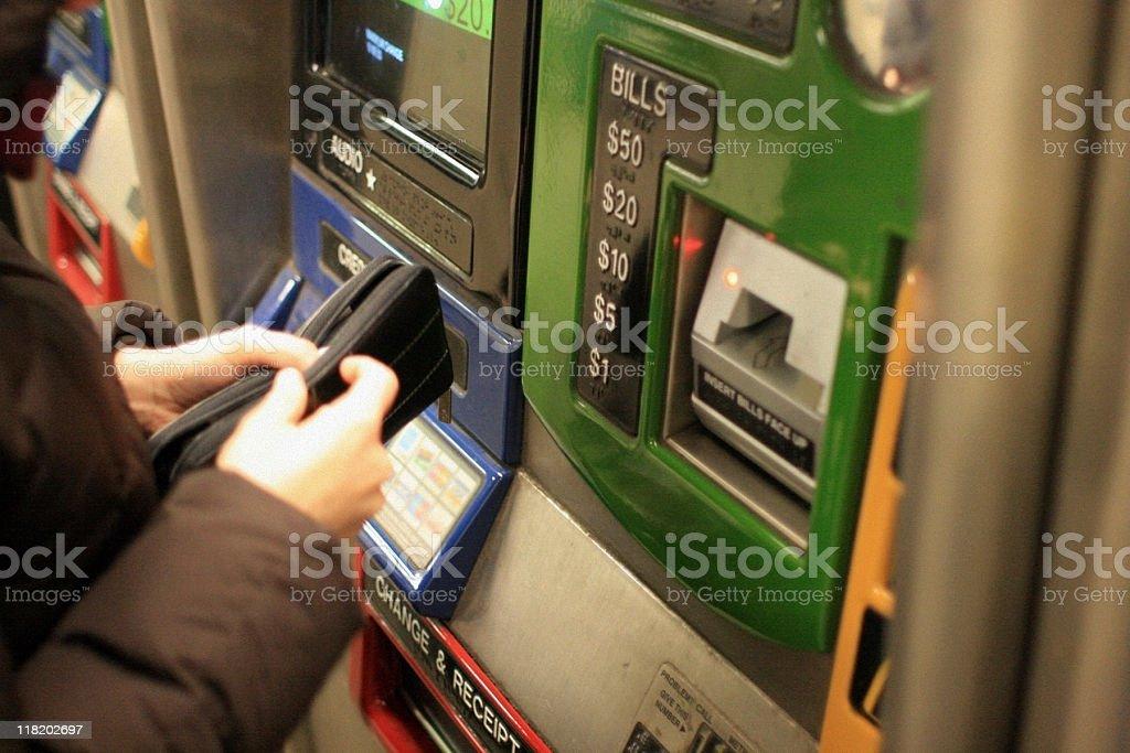 Woman Buying Metrocard - New York City stock photo