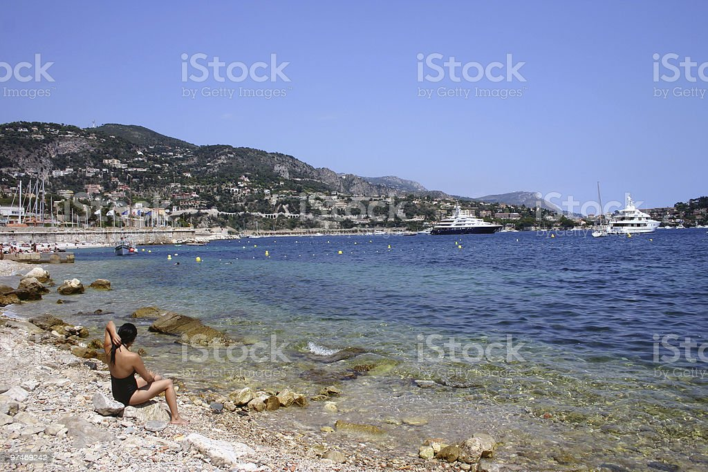 woman by the beach royalty-free stock photo