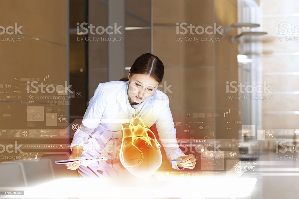 Woman cardiologist royalty-free stock photo