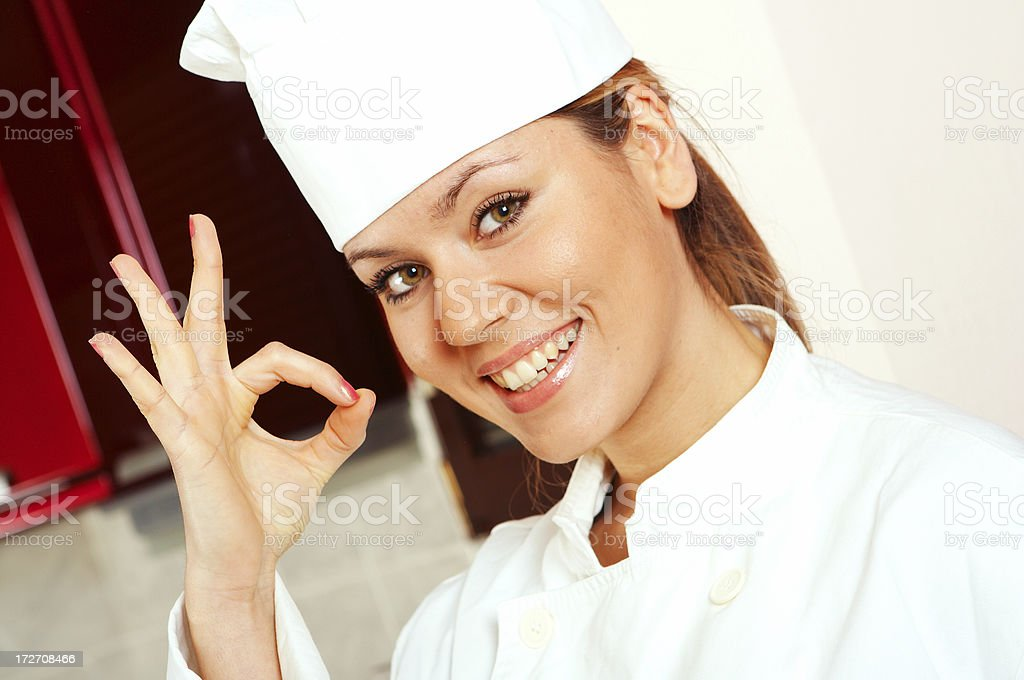 Woman Chef royalty-free stock photo