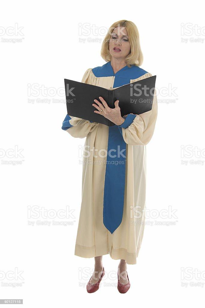 Woman Choir Member stock photo