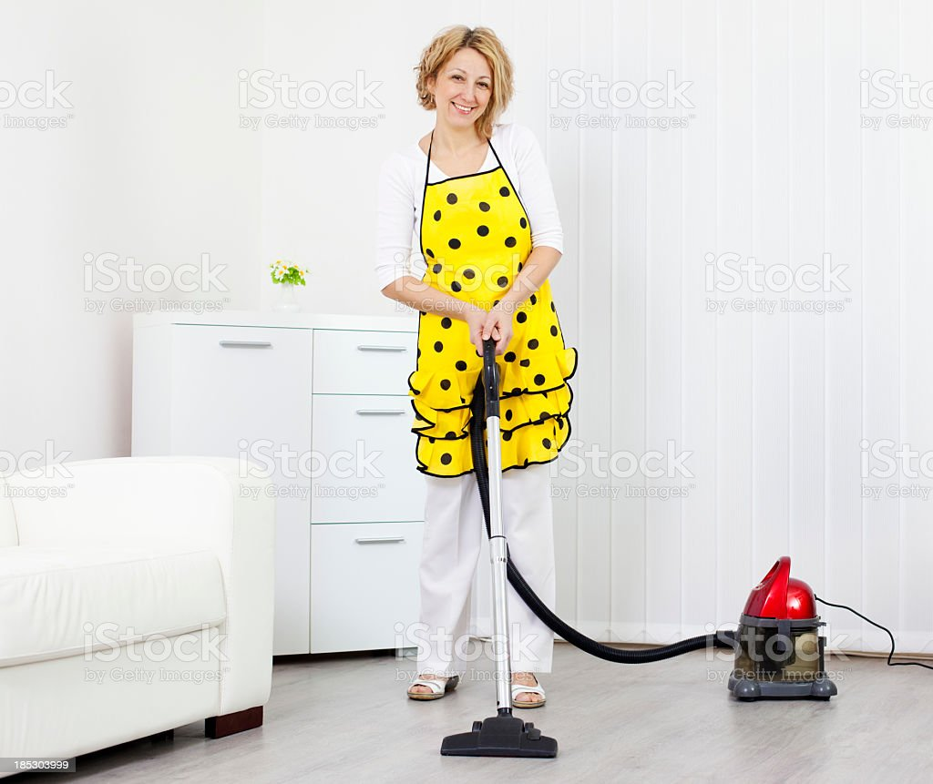 Woman Cleaning home. royalty-free stock photo