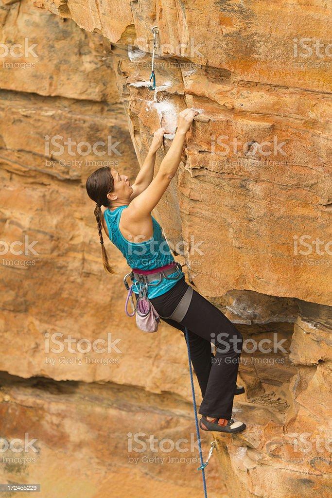 Woman Climber royalty-free stock photo