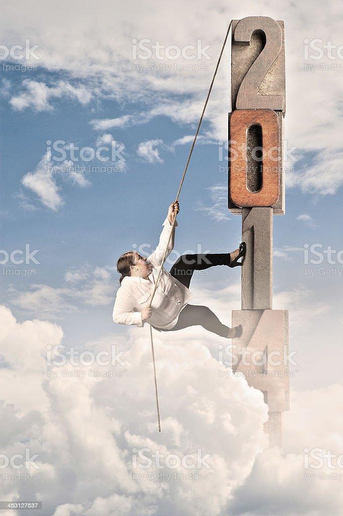 woman climbing on 2014 royalty-free stock photo