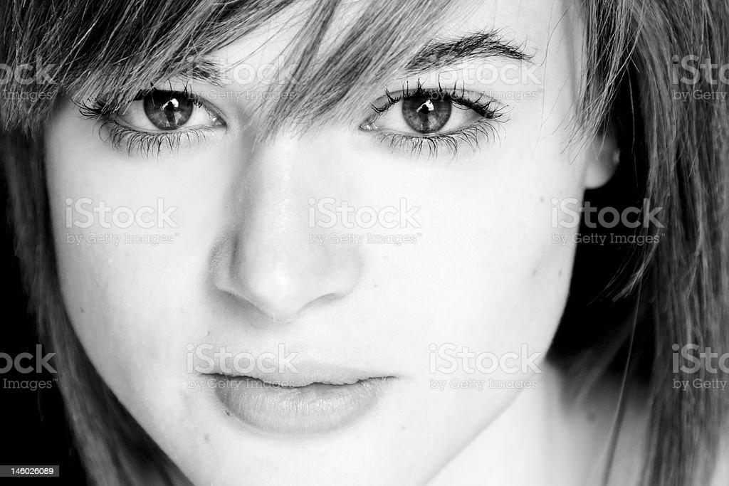 Woman close portrait royalty-free stock photo