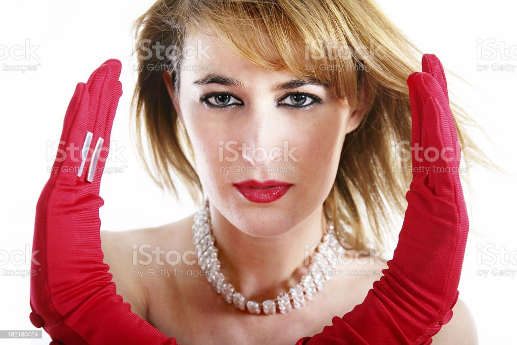 Woman closeup royalty-free stock photo