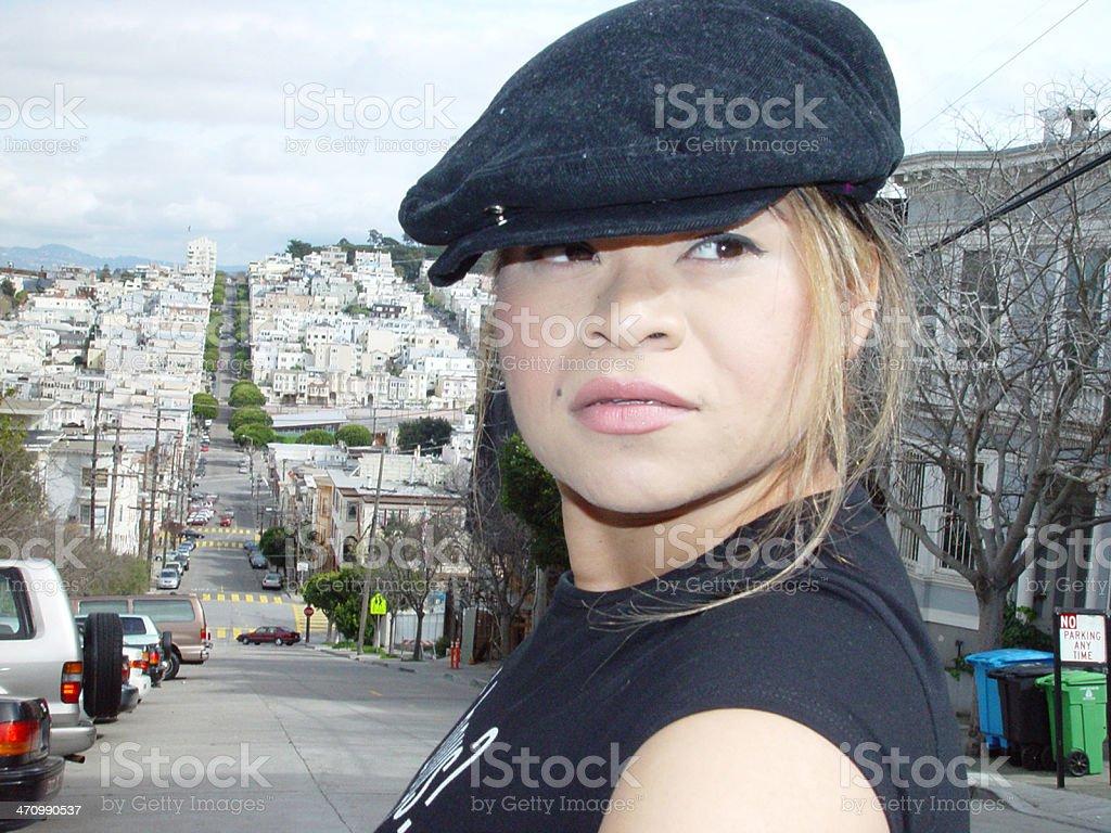 Woman closeup stock photo