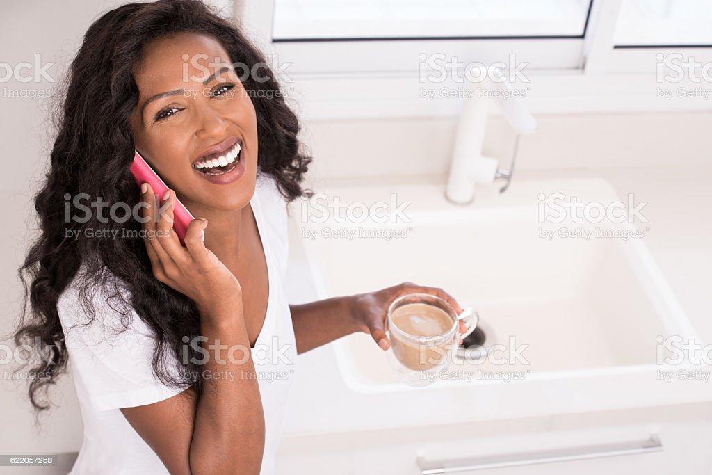 Woman coffee break. stock photo