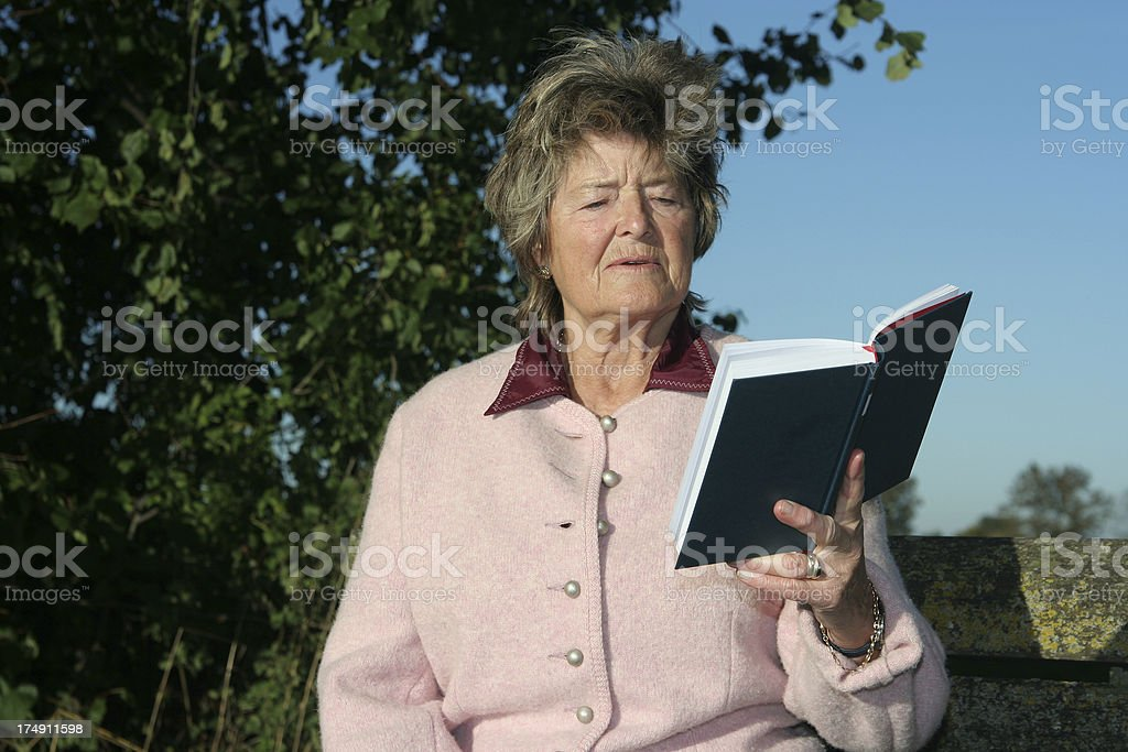 Woman continues her education royalty-free stock photo
