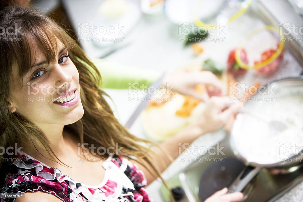 Woman cooking  XXL royalty-free stock photo