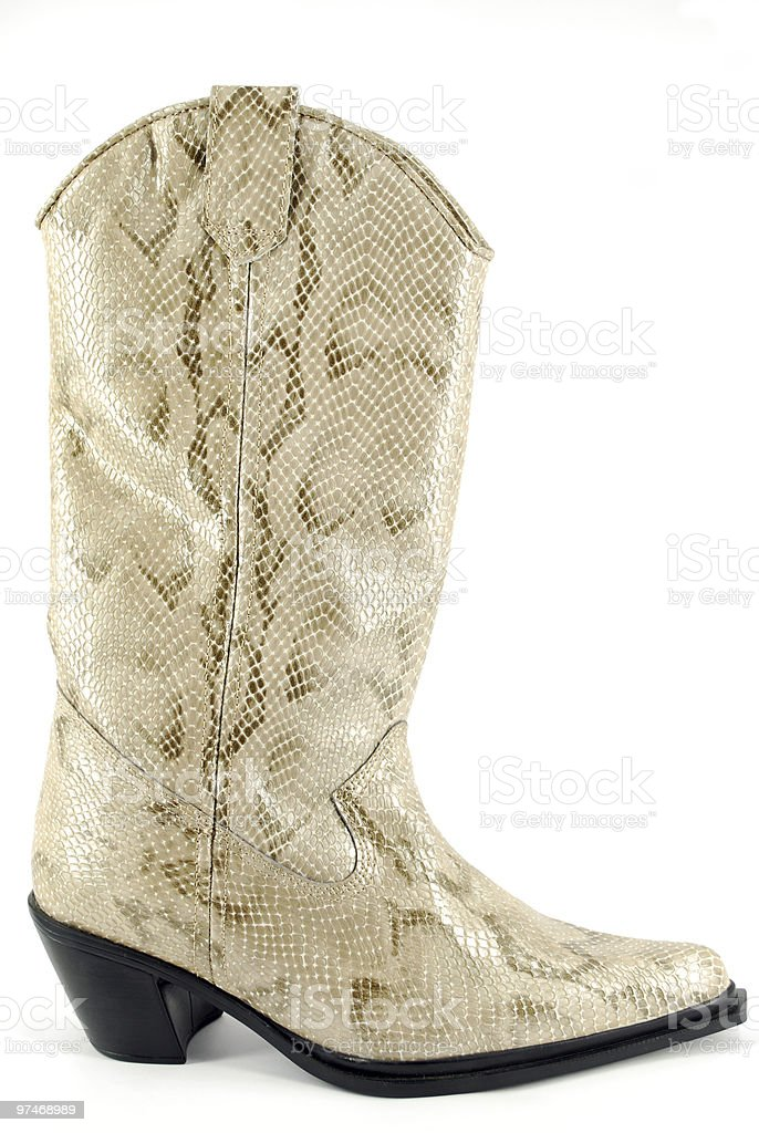 woman cowboy leather boot stock photo