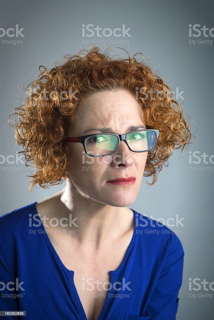 woman crying royalty-free stock photo