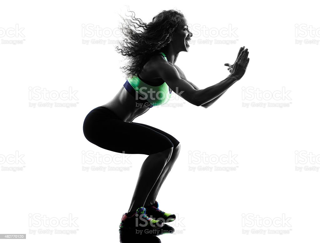 woman zumba dancer dancing exercises silhouette stock photo