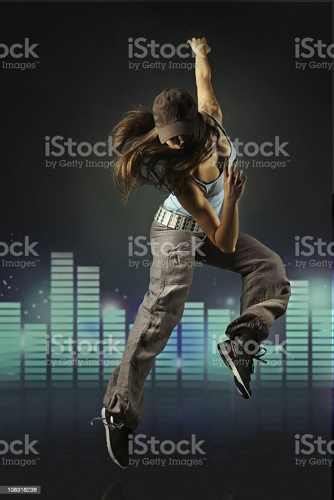 woman dancing hip hop royalty-free stock photo