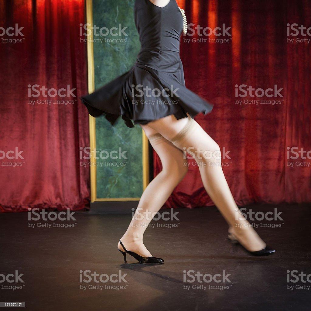 Woman Dancing. stock photo