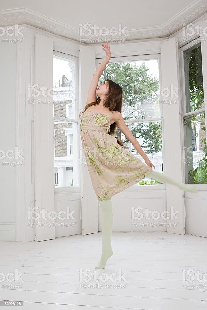 A woman dancing royalty-free stock photo