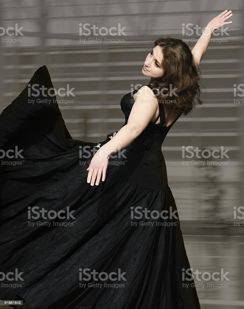 Woman dancing royalty-free stock photo