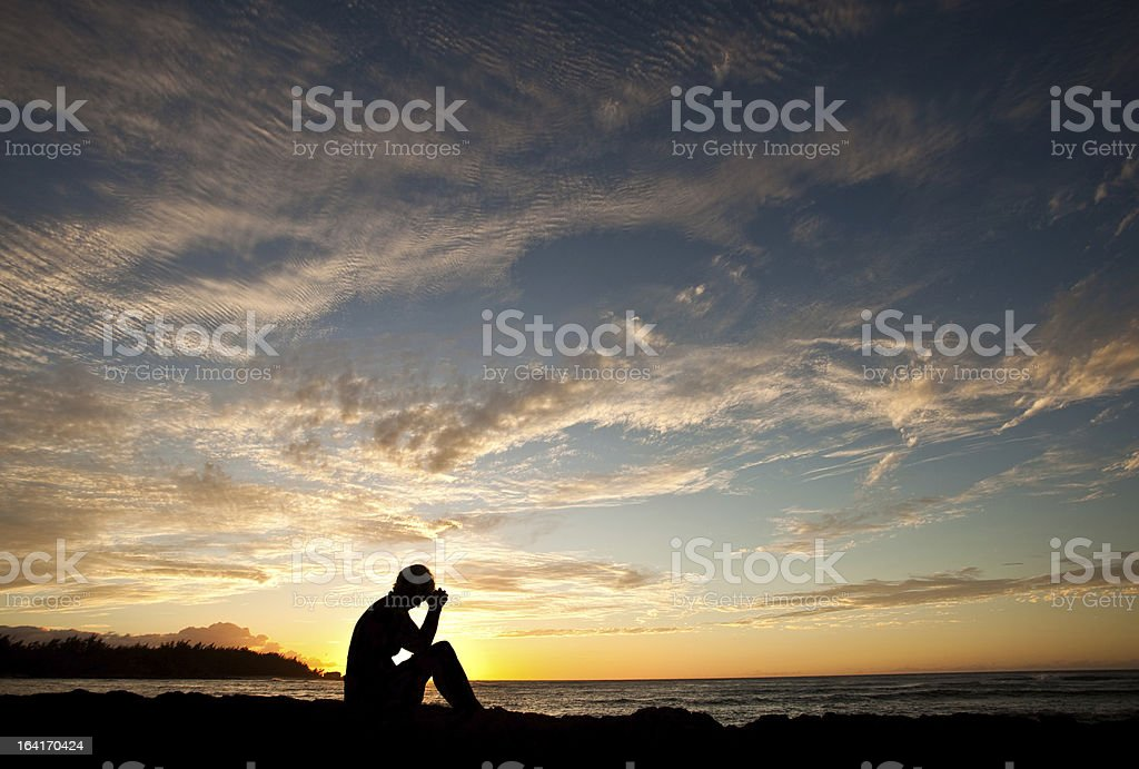 Woman Deep in Thought royalty-free stock photo