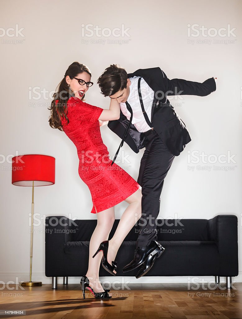 Woman Defending Herself stock photo