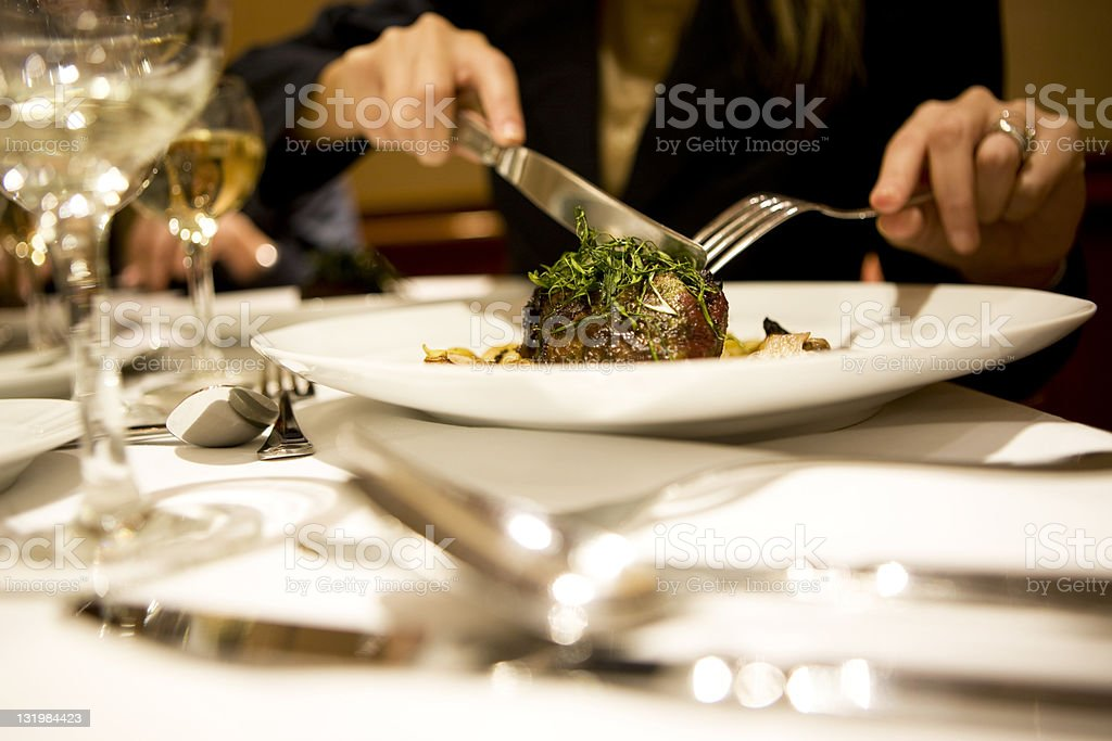 Woman Dining royalty-free stock photo