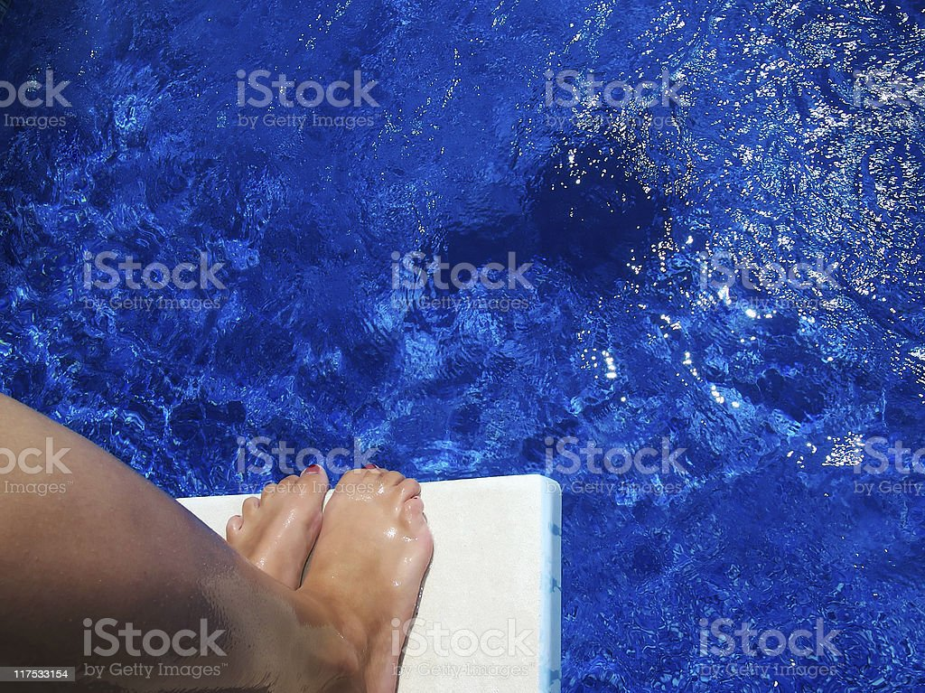 Woman Diving stock photo