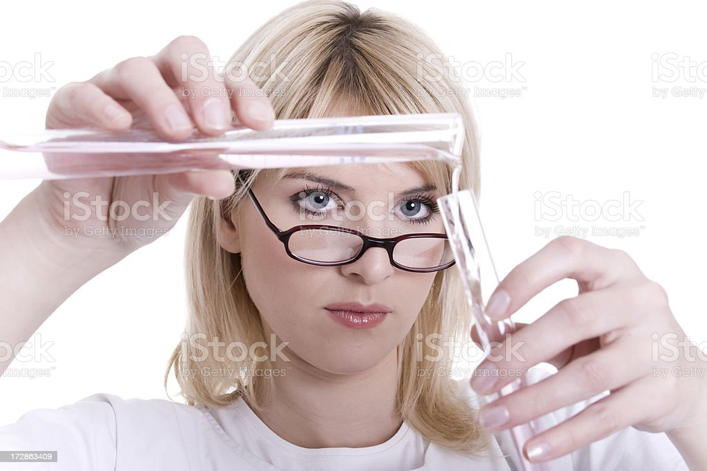 Woman doctor or chemist royalty-free stock photo