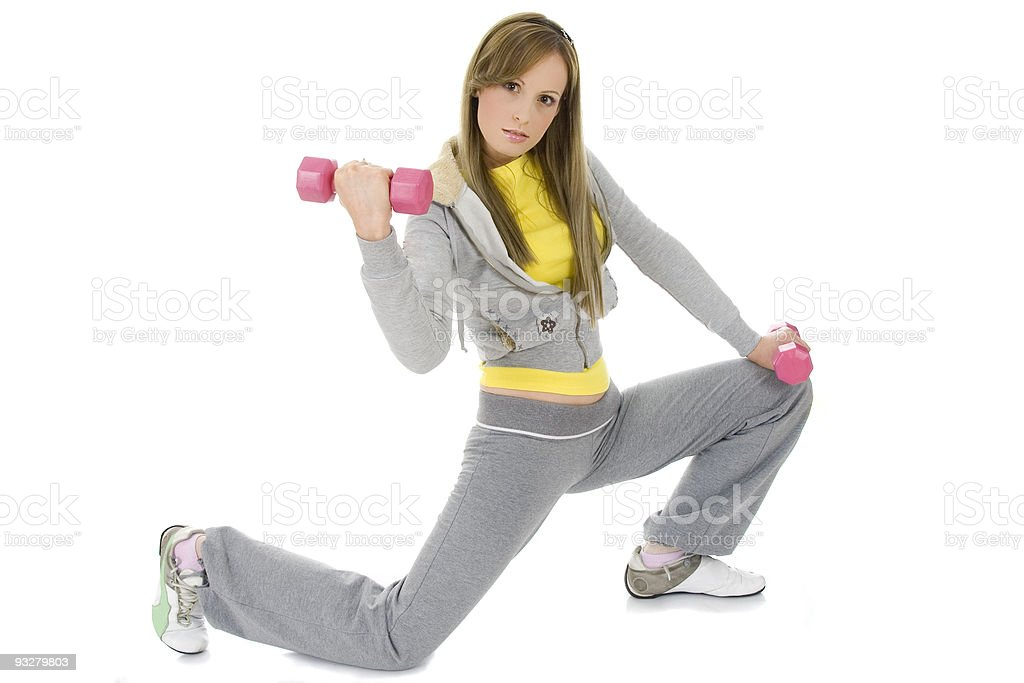 woman doing a fitness royalty-free stock photo