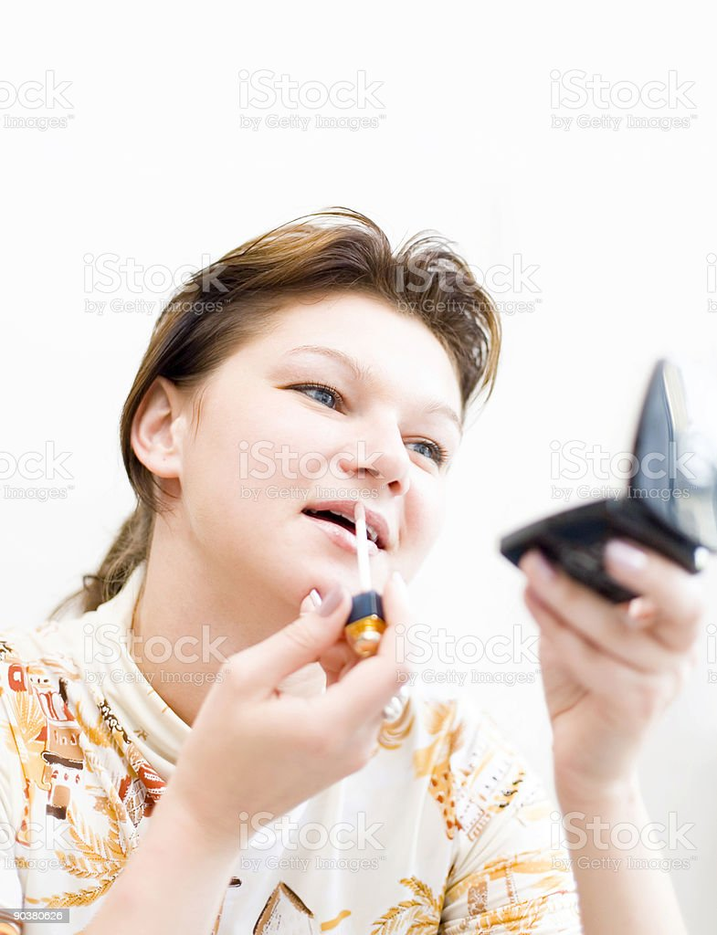 Woman doing a make-up #2 royalty-free stock photo