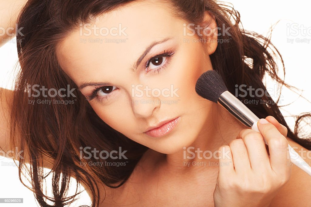 Woman doing daily morning routines royalty-free stock photo