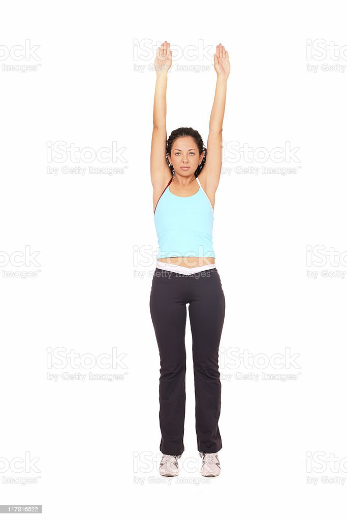 Woman doing exercise royalty-free stock photo