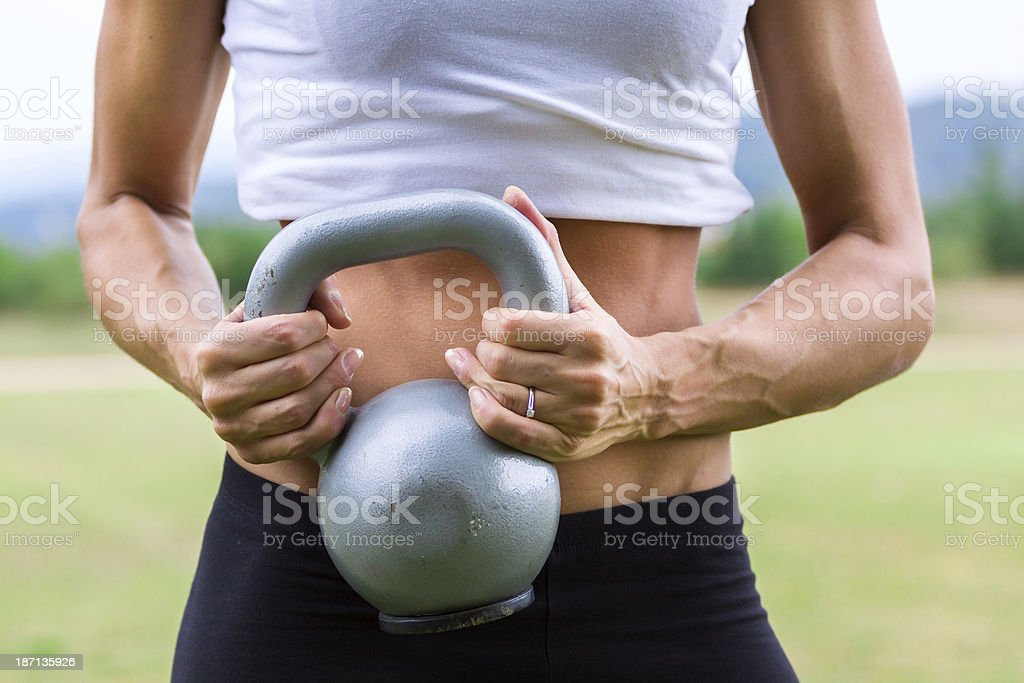 Woman Doing gym exercise royalty-free stock photo