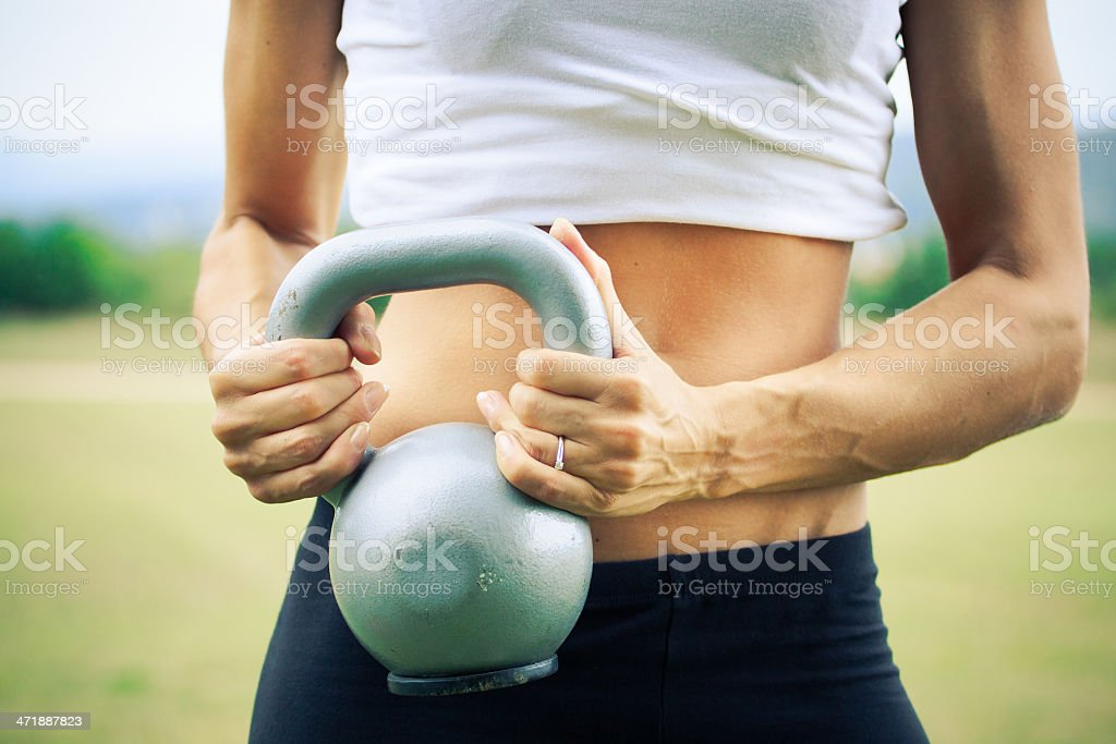 Woman Doing gym exercise royalty-free stock photo