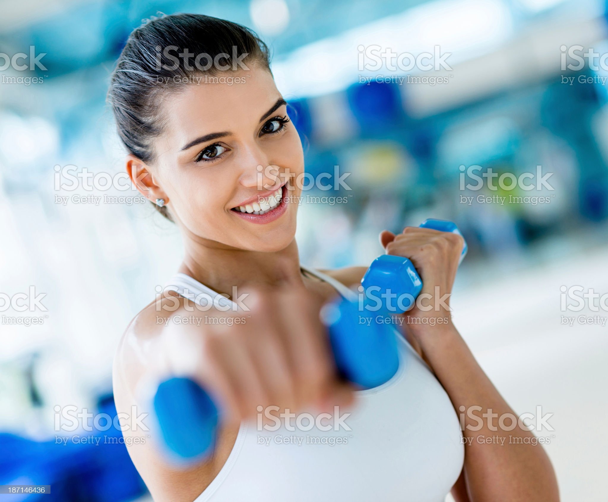 Woman doing kickboxing royalty-free stock photo