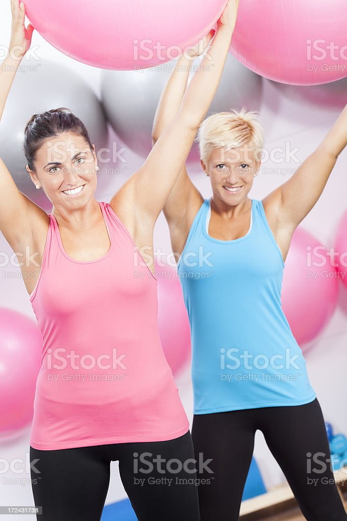 woman doing pilates exercise royalty-free stock photo
