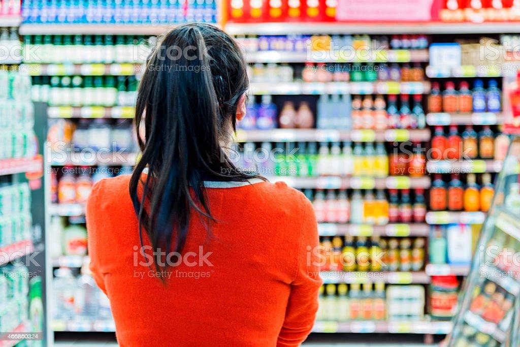 Woman doing shopping stock photo