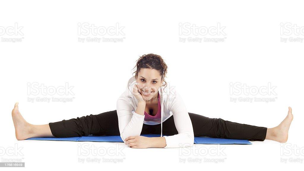 woman doing the splits royalty-free stock photo