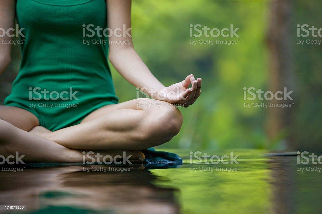 Woman doing yoga stock photo