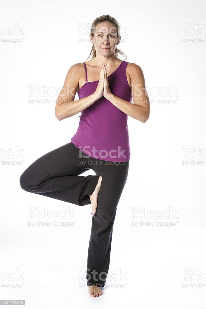 Woman Doing Yoga royalty-free stock photo