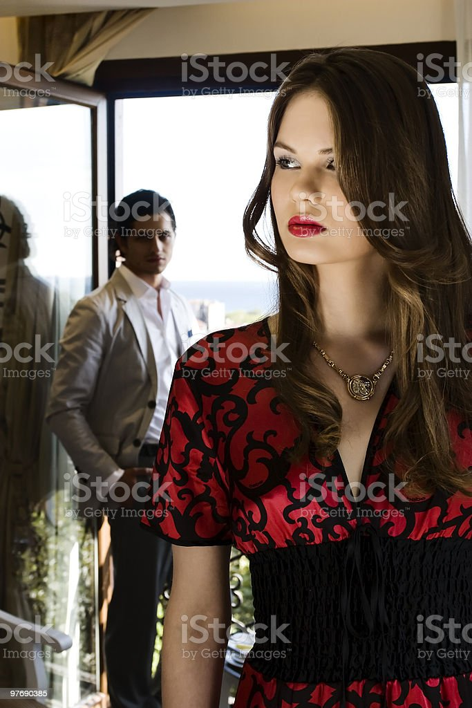 woman don't look back royalty-free stock photo