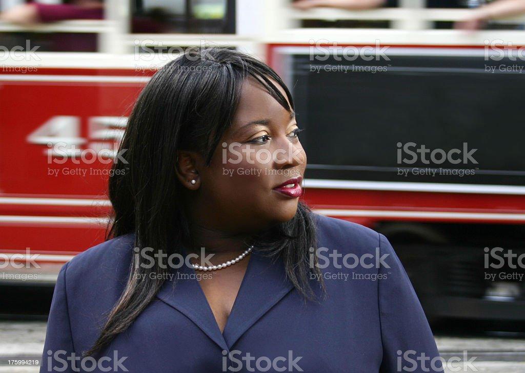 Woman Downtown royalty-free stock photo