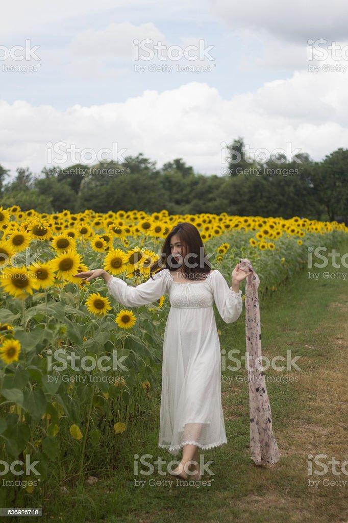 woman dress white stock photo