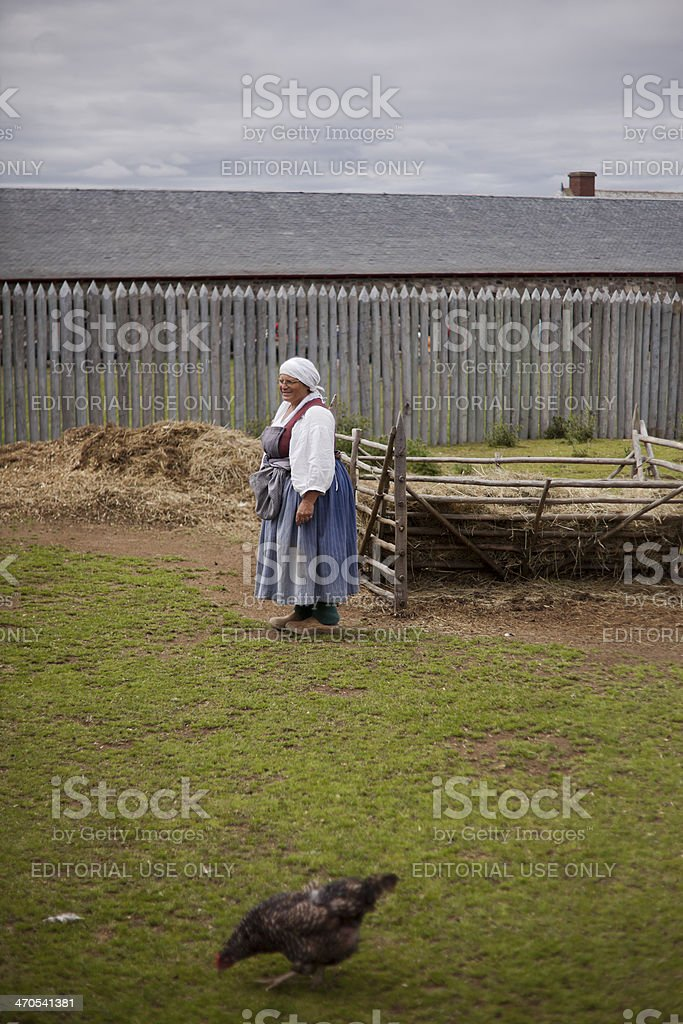 Woman Dressed in 18th Century French Costume stock photo