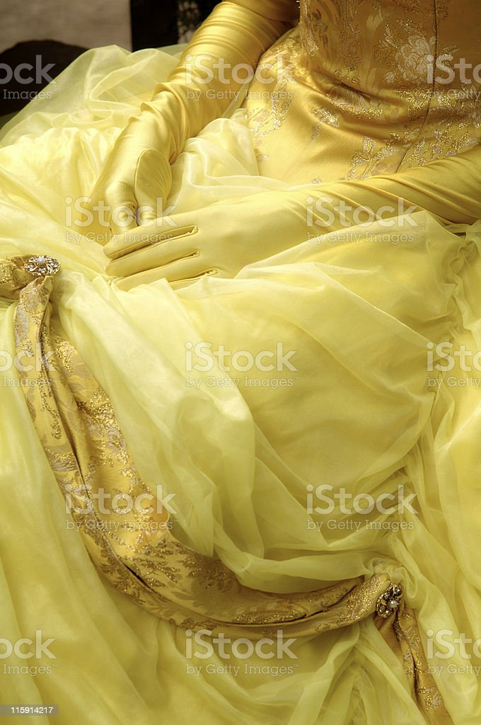 Woman dressed in epoch royalty-free stock photo