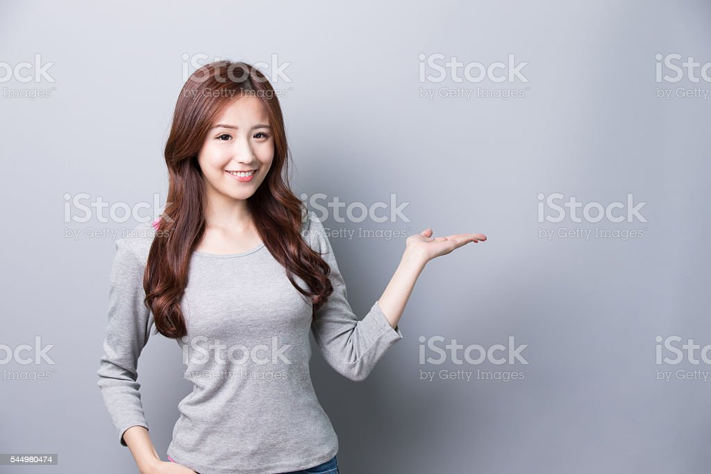 woman dressed in winter clothing stock photo