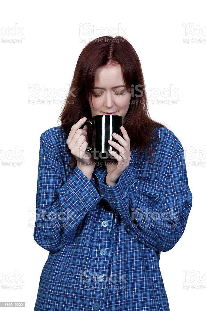 Woman Drinking Coffee royalty-free stock photo