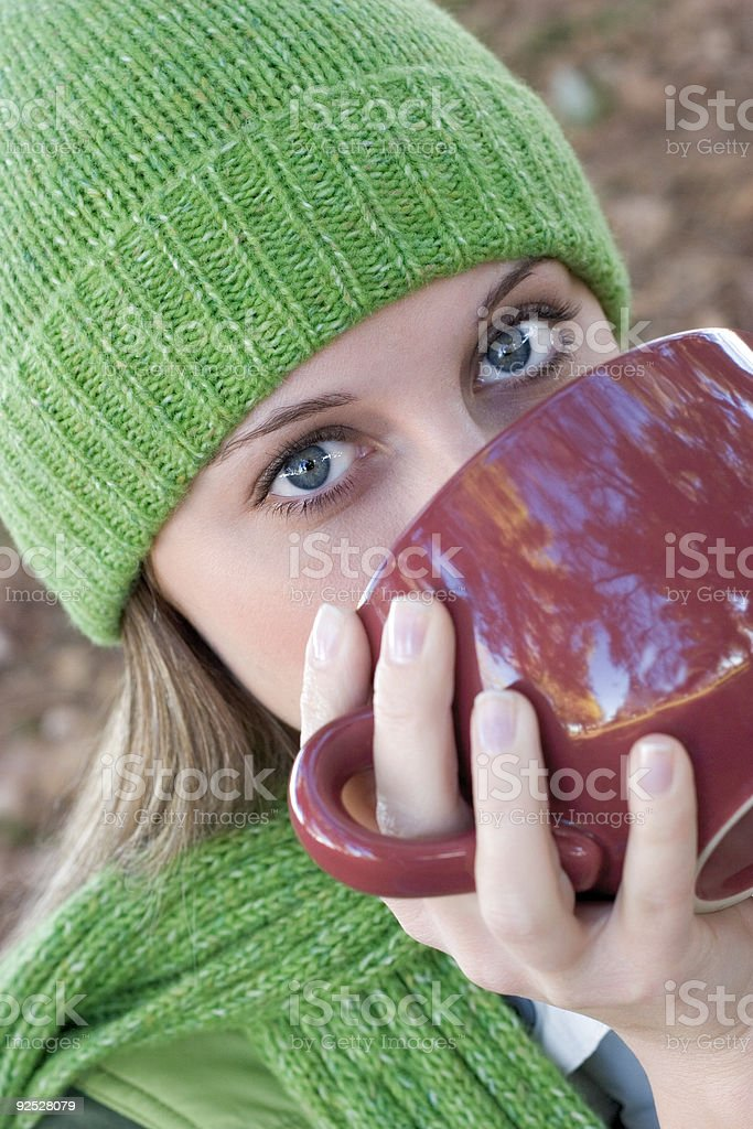 Woman Drinking royalty-free stock photo