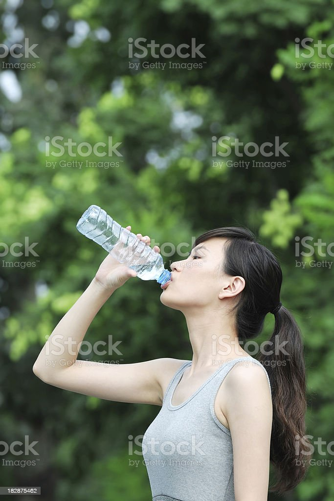 Woman Drinking Water - XLarge royalty-free stock photo