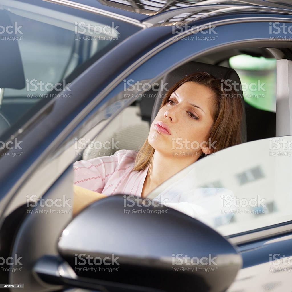 woman driving car royalty-free stock photo